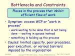 bottlenecks and constraints