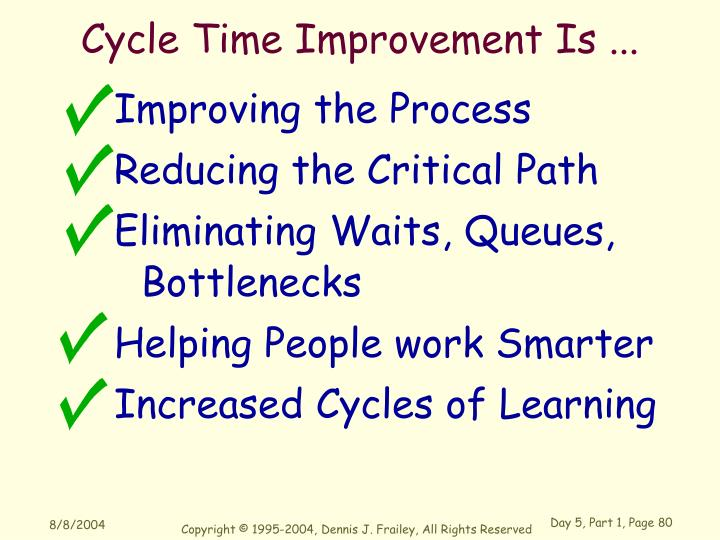 Cycle Time Improvement Is ...