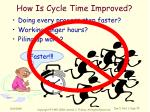 how is cycle time improved1