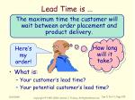lead time is