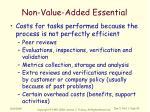 non value added essential