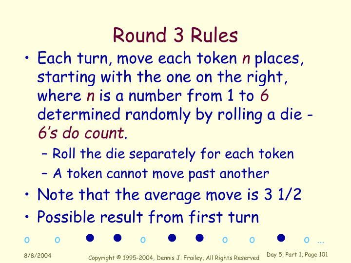 Round 3 Rules