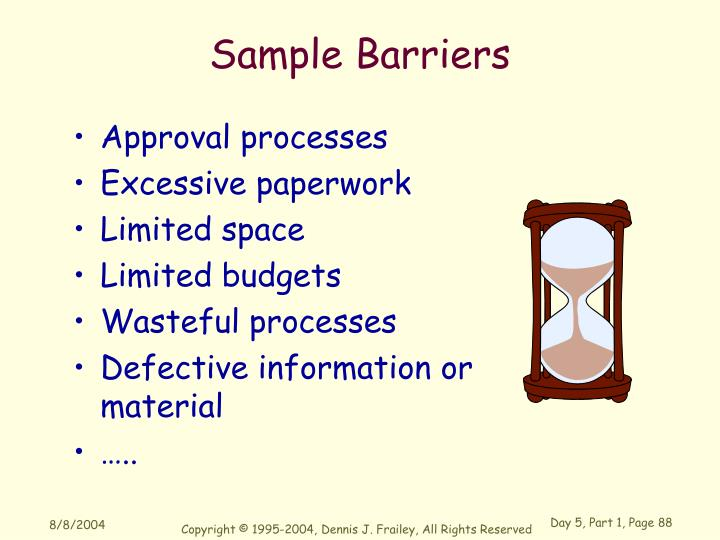 Sample Barriers