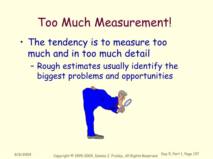 Too Much Measurement!