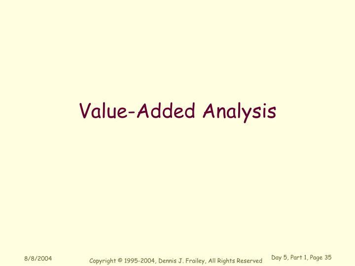 Value-Added Analysis
