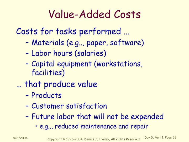 Value-Added Costs