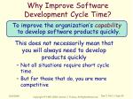 why improve software development cycle time