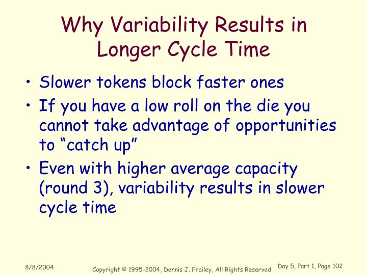 Why Variability Results in Longer Cycle Time