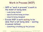 work in process wip