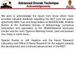 advanced dvorak technique acknowledgements