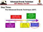 advanced dvorak technique adt history the adt