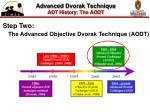 advanced dvorak technique adt history the aodt
