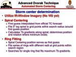 advanced dvorak technique automated storm centering