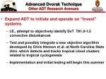 advanced dvorak technique other adt research avenues