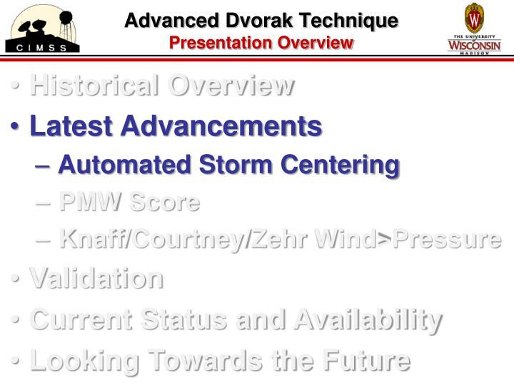 Advanced Dvorak Technique