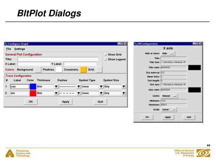 BltPlot Dialogs
