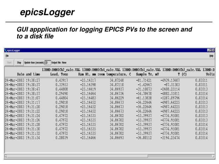 epicsLogger