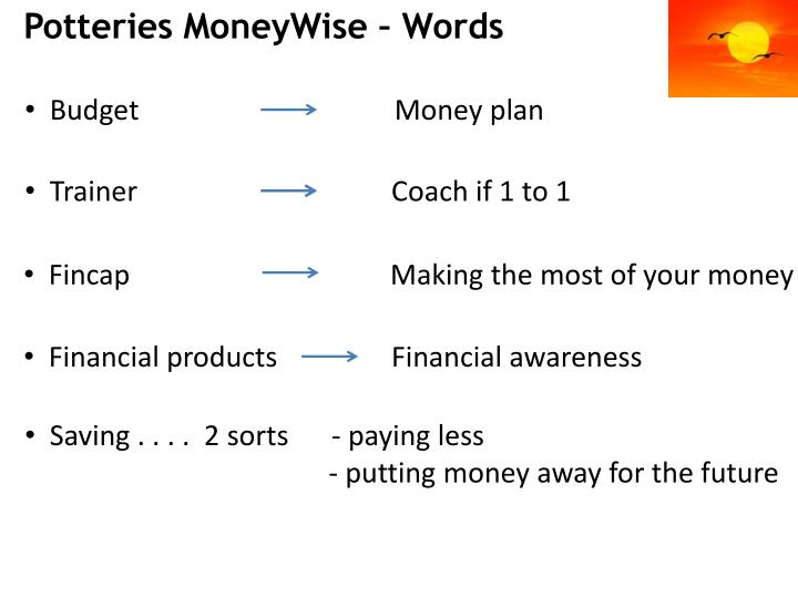 Potteries MoneyWise – Words