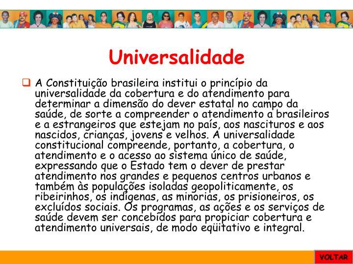 Universalidade