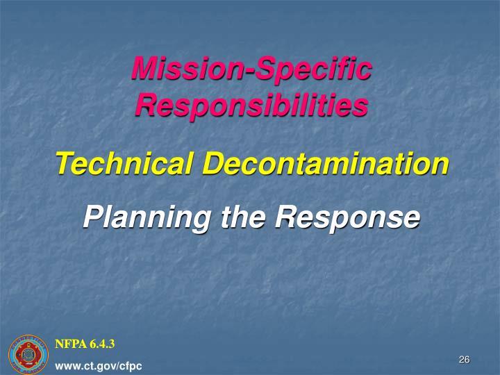 Mission-Specific Responsibilities