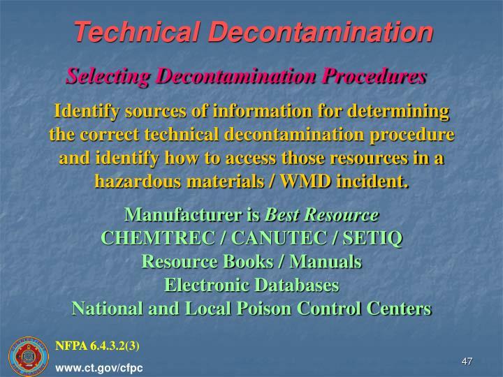 Technical Decontamination