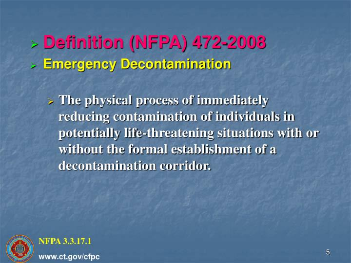 Definition (NFPA) 472-2008