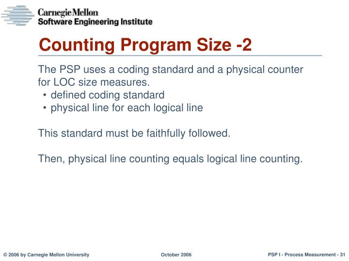 Counting Program Size -2