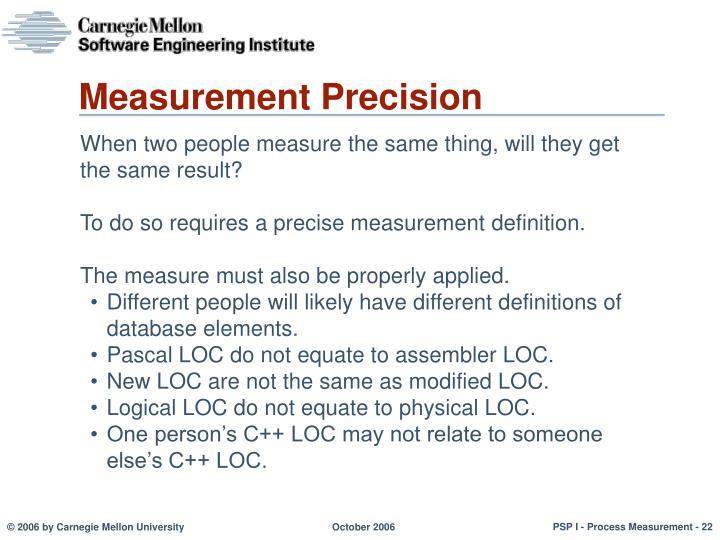 Measurement Precision