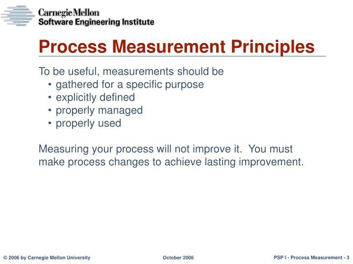 Process Measurement Principles