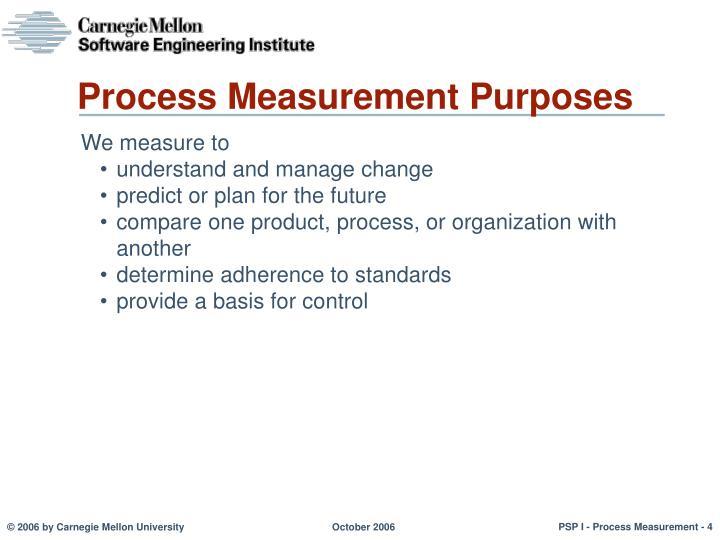Process Measurement Purposes