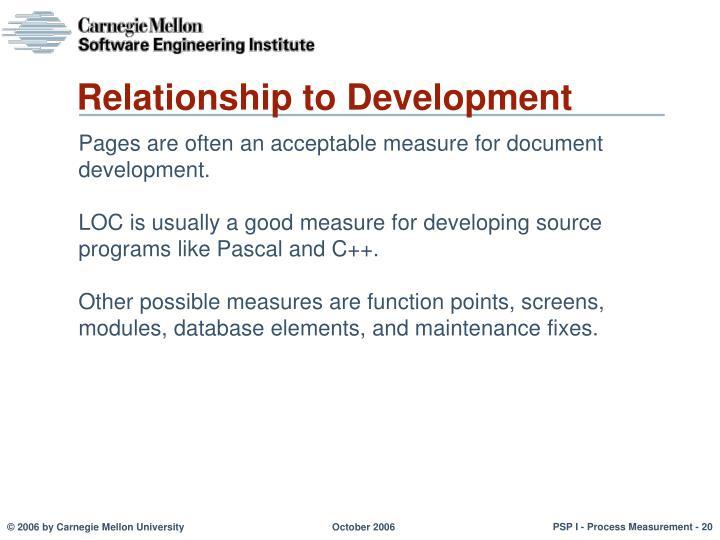 Relationship to Development