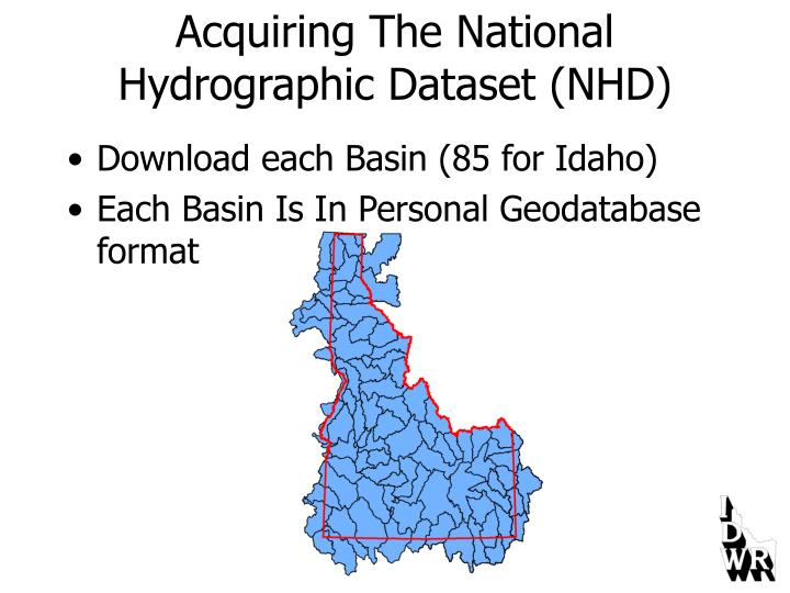 Acquiring the national hydrographic dataset nhd