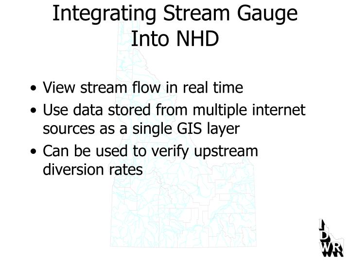 Integrating Stream Gauge Into NHD