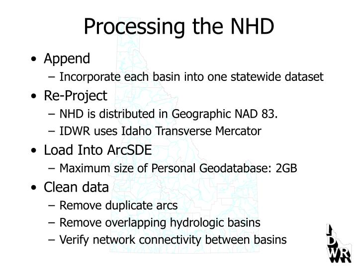 Processing the NHD