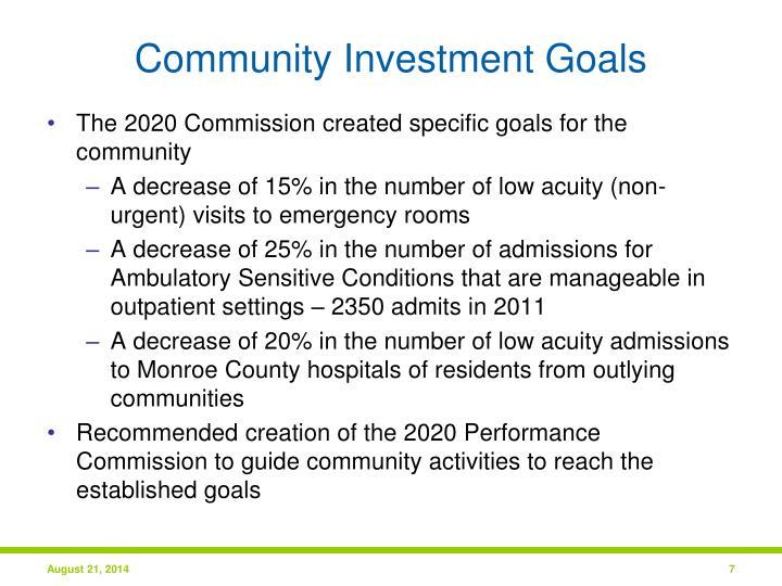 Community Investment Goals