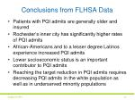 conclusions from flhsa data