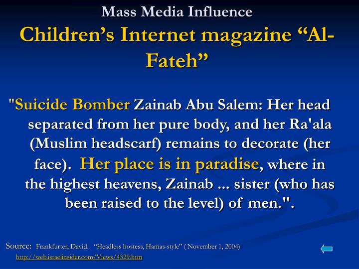 Mass Media Influence
