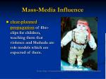 mass media influence