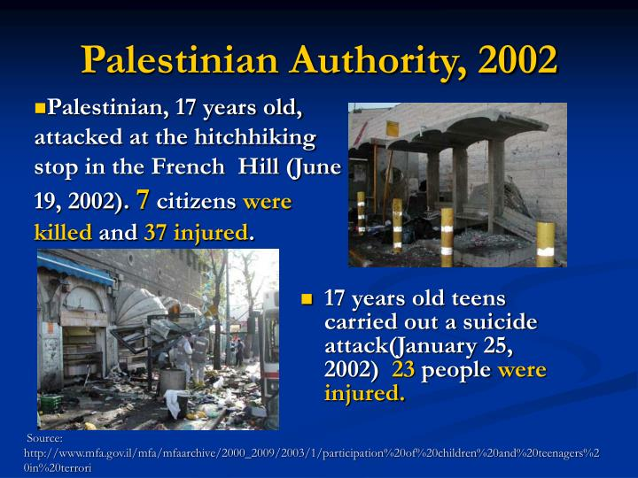 Palestinian Authority, 2002