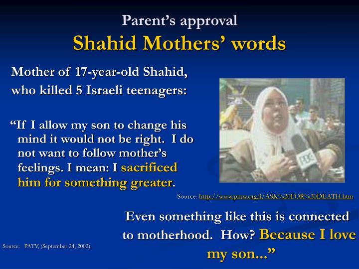 Parent's approval