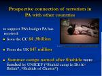 prospective onnection of terrorism in pa with other countries