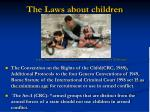 the laws about children
