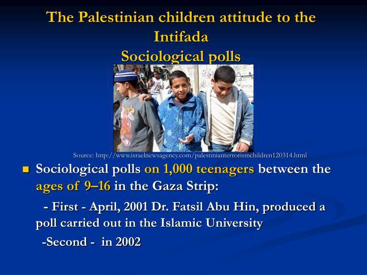 The Palestinian children attitude to the Intifada