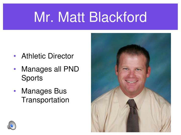 Mr. Matt Blackford