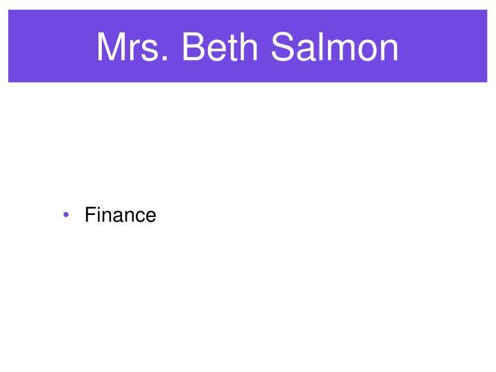 Mrs. Beth Salmon