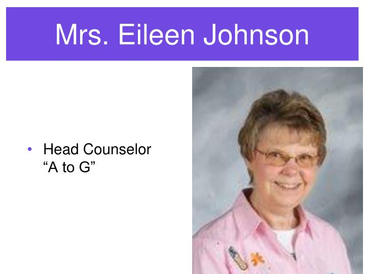 Mrs. Eileen Johnson