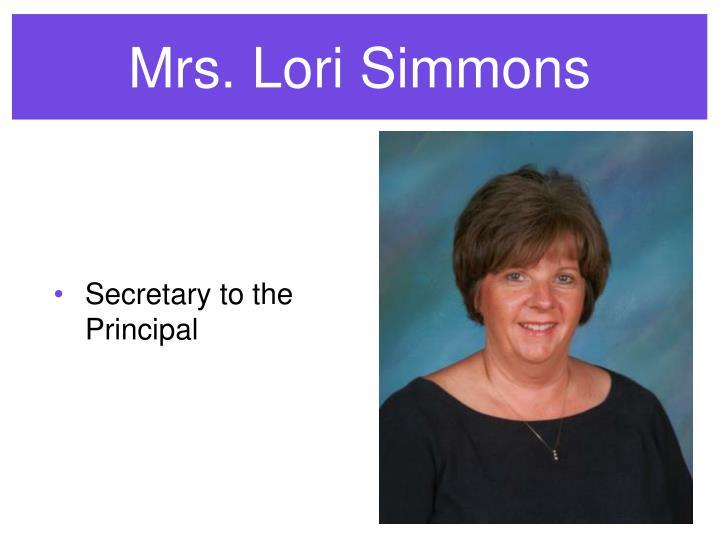 Mrs. Lori Simmons