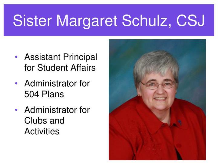Sister Margaret Schulz, CSJ