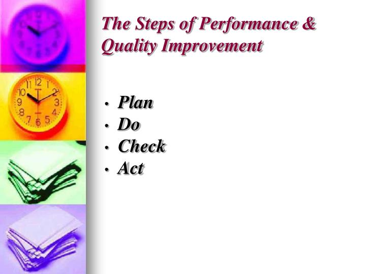 The Steps of Performance & Quality Improvement