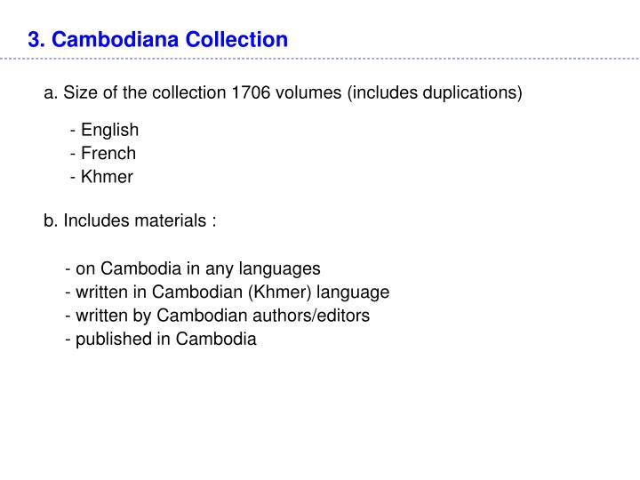 3. Cambodiana Collection